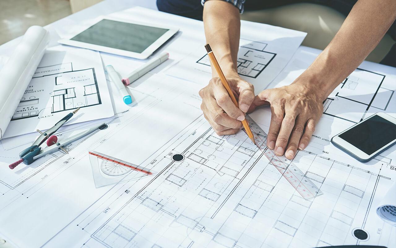 Lübecker Bucht Immobilien - Projektentwicklung - Planung auf Grundriss